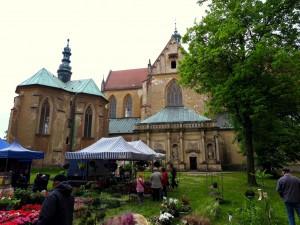 Am Kloster Lebus. Hier bekamen wir eine spontane Führung.