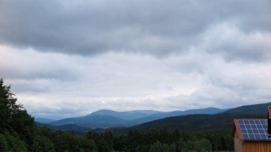 Wolken in der Ferne.