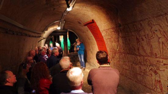 Geschichtliches in den Katakomben von Bayreuth