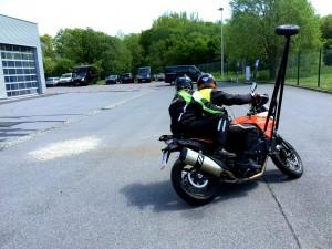 Schräglagen-Motorrad