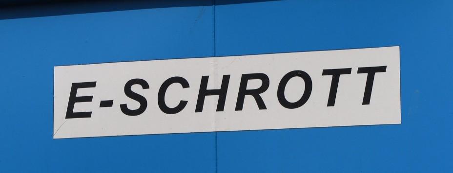 Schild Elektroschrott (5)